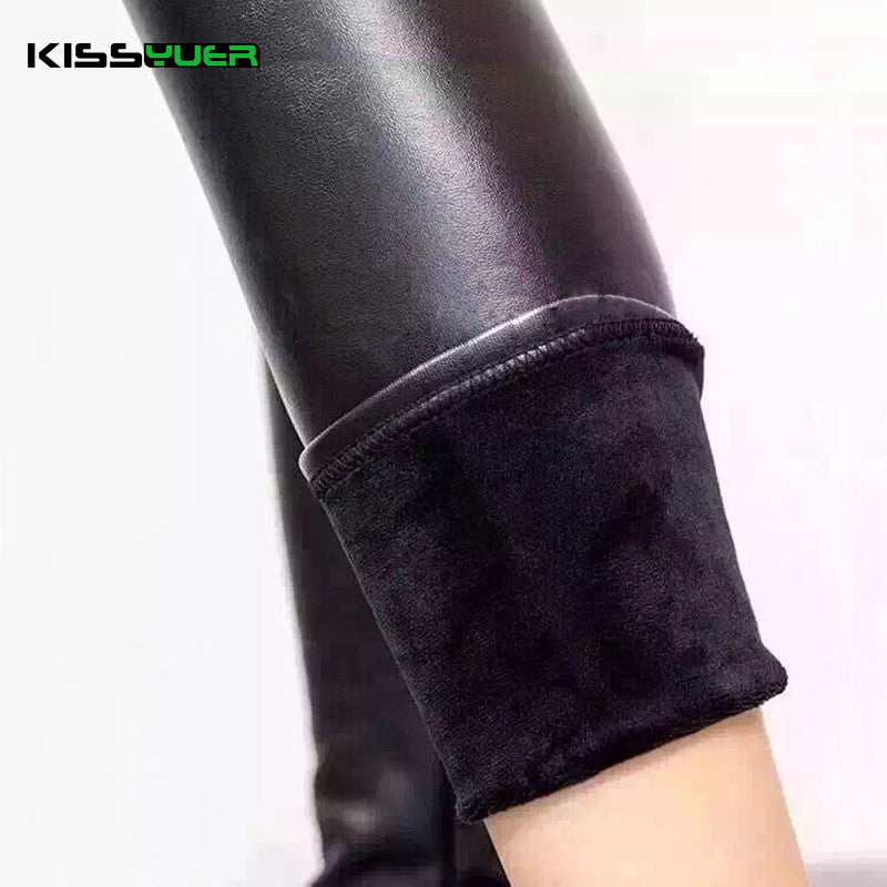 Kissyuer Wet Look Thick Pu Leather Leggings Water Proof S Xxl Plus S