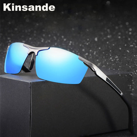 Kinsande New Fashion Sports Sunglasses Men Classic Driving Polarized Eyes Protect  Sun Glasses gafas de sol K8530