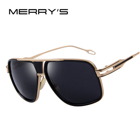 MERRY'S Sunglasses Men Newest Vintage Big Frame Goggle Summer Style Brand Design Women Sun Glasses Oculos De Sol UV400 S'7302