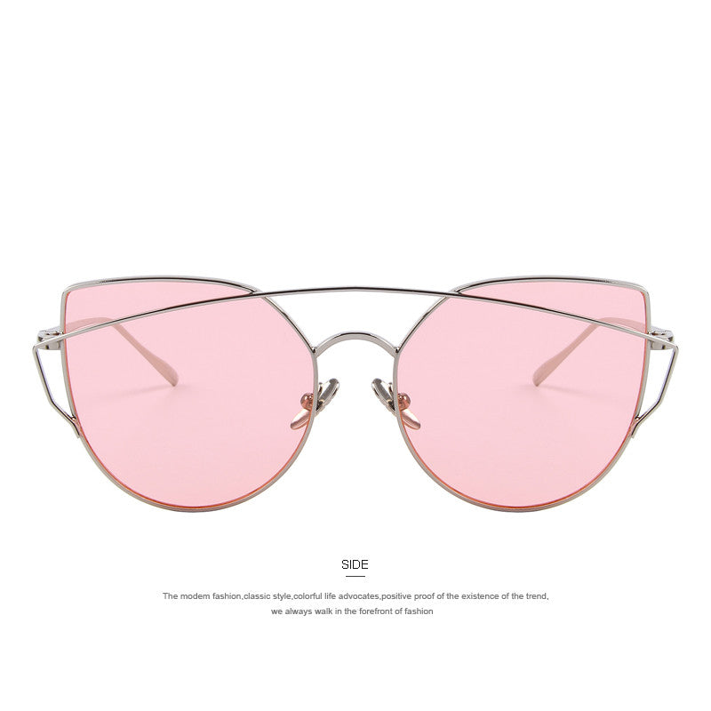 a5902eedf7 ... MERRY S Women Cat Eye Polarized Sunglasses Classic Brand Designer Twin-Beams  Sunglasses Coating Mirror Flat ...