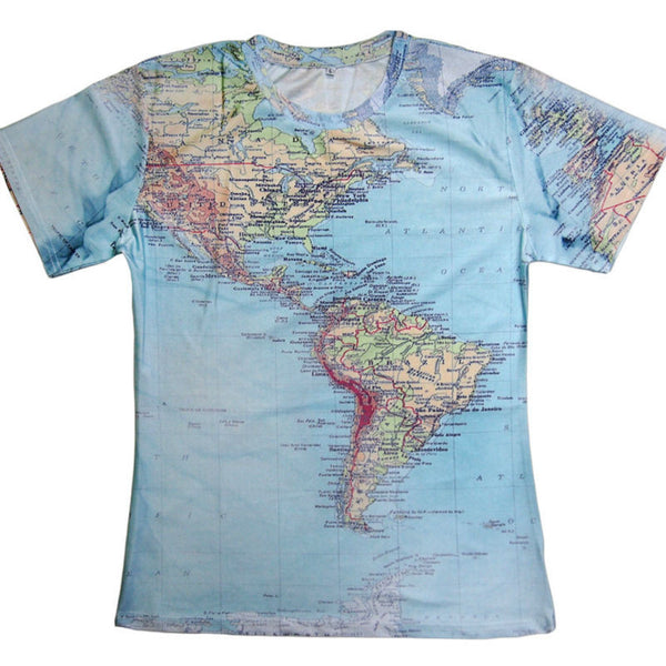 Map 3d printed t shirts world urban threads hipsters retro globe map 3d printed t shirts world urban threads hipsters retro globe image of the americas gumiabroncs Images