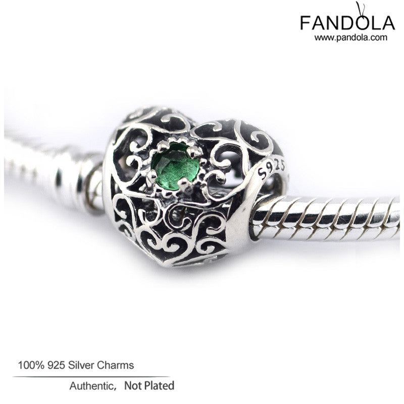 7308d3e7a ... sterling silver 791784gr 01573 91ba4; wholesale may signature heart  birthstone charms fits pandora bracelets 925 sterl raja indonesia 1f969  56a79