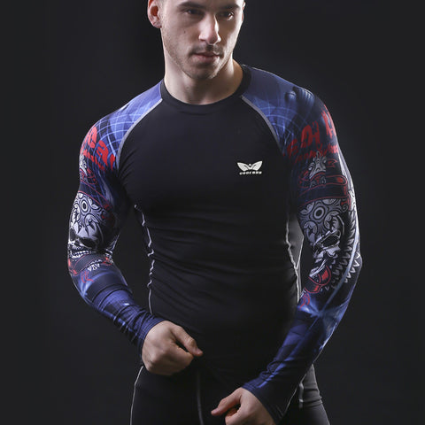 1cd4876ee118 Men Compression Long sleeve Breathable Quick Dry T Shirts Bodybuilding  Weight lifting Base Layer Fitness Tight