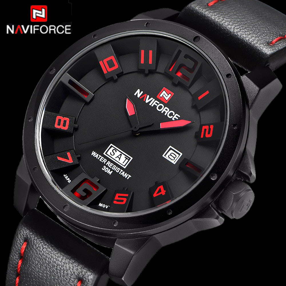 523f29014 Men Watches NAVIFORCE Brand Military Reloj Quartz Analog 3D Face Leather  Army Fashion Clock Sports Watch ...