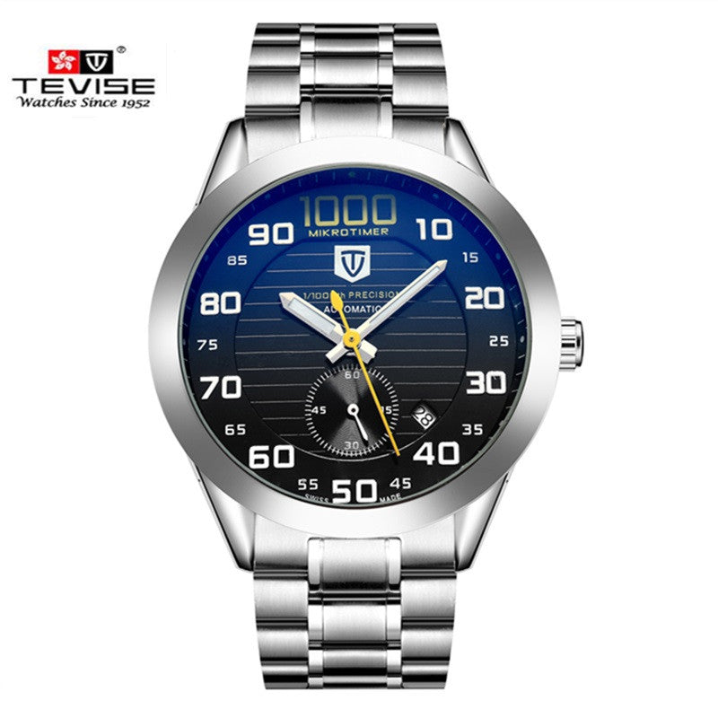 b97a45efcee Men Watches Top Brand Luxury TEVISE Automatic Mechanical Watch Waterproof  Discolored Glass Steel Watch Clock Relogio Masculino