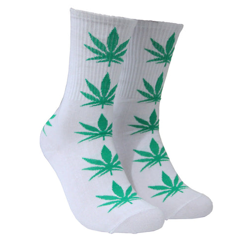 8885d568fc8 Men Weed Socks Hip Hop Women Cotton Calcetines Size 35~44 Skate Meias  Homens Socks