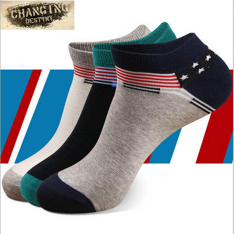 Men's Four Seasons Cotton Socks Shallow Mouth Invisible Ship Socks Boy's Moisture Wicking Anti Odor Socks - Raja Indonesia