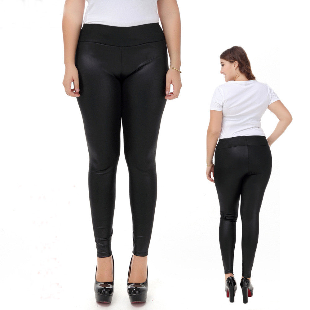 New Arrival Women Pants Faux Leather Pants For Women Plus Size Xl 5xl
