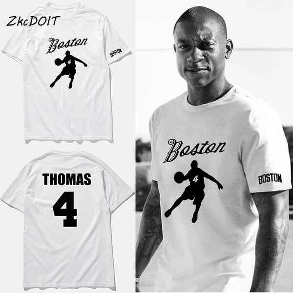sports shoes 49497 f83b6 New Brand t shirt men Boston No.4 isaiah thomas jersey basket ball tee  shirt men white cotton casual short sleeve top tee,tx2362
