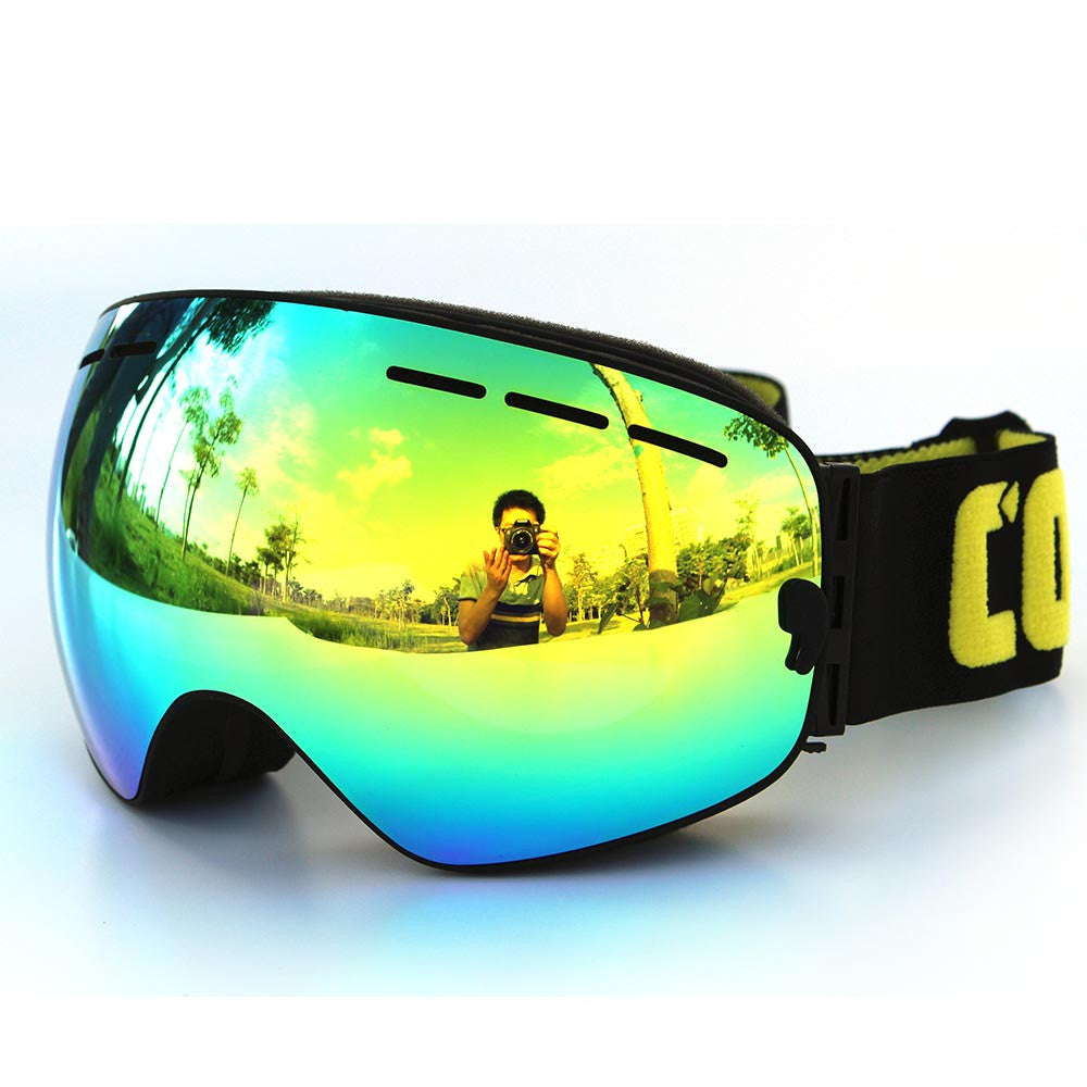 696d0c7f1b7c ... New COPOZZ brand ski goggles double layers UV400 anti-fog big ski mask  glasses skiing ...