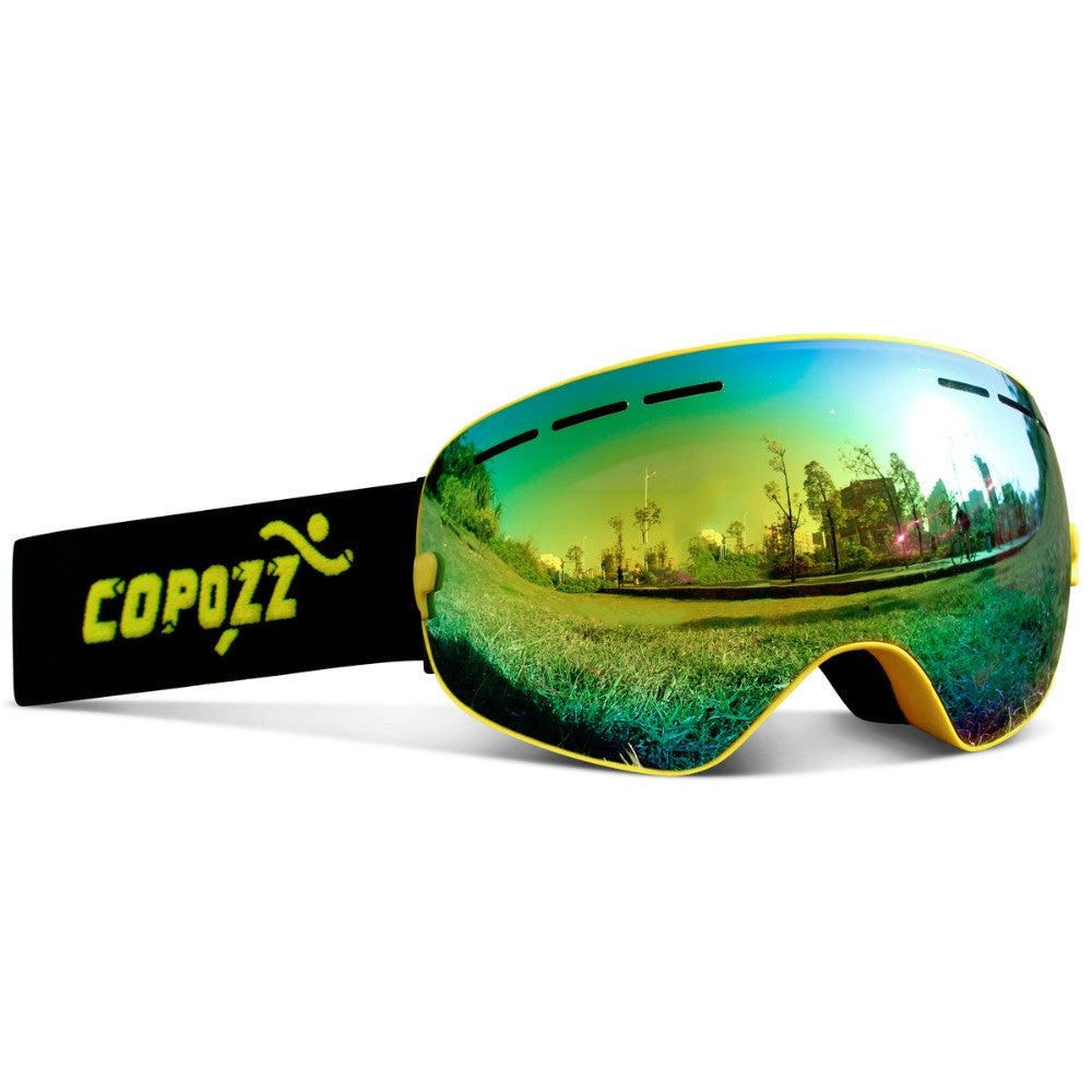 4020ebd0f6c2 ... New COPOZZ brand ski goggles double layers UV400 anti-fog big ski mask glasses  skiing ...