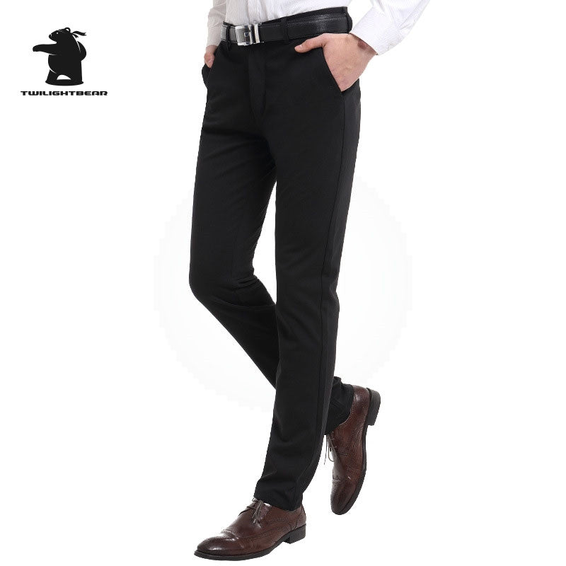 42854c65651 New Mens Business Casual Pants Designer Fashion Stretch Chino Pants For Men  Dress Pants 4 Color ...