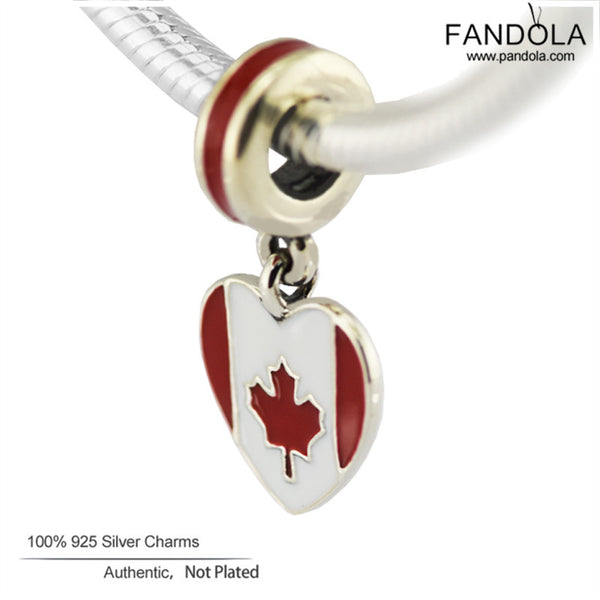 4571e7dd4 ... cheap new sterling silver jewelry canada heart flag charm silver 925  beads for jewelry making 1ae82