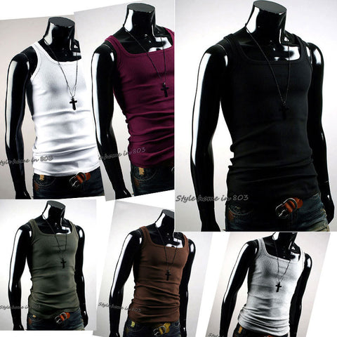 0adbf894c75 New Style Mens Summer Fashion Slim Fit Sexy Stylish Tank Tops T Shirt  Shirts - Raja