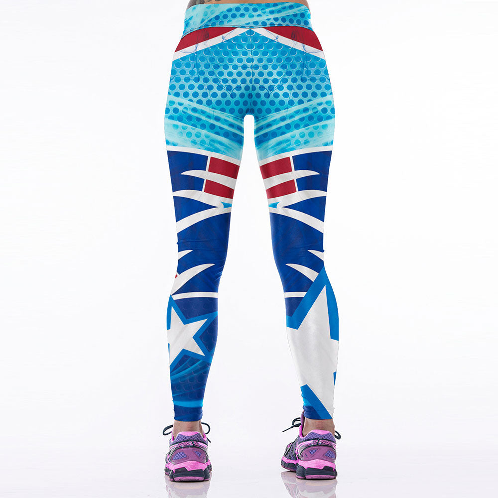 57360b7e New Women Sporting Fitness Legging American NFL New England Patriots Team  3D Printed Skinny Workout Leggings 12 Style in Stock