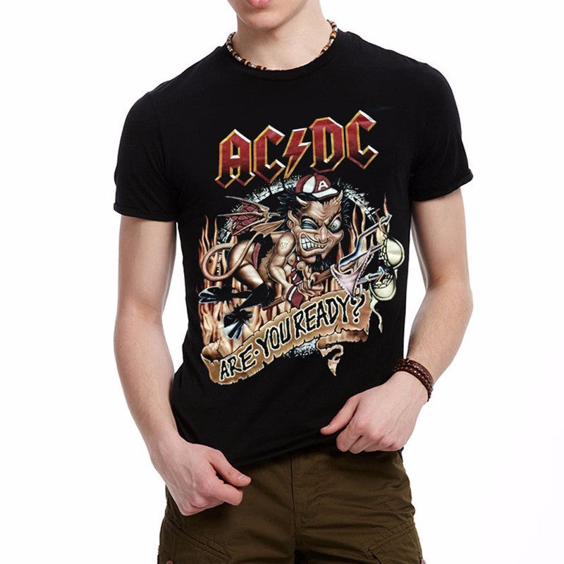 d84926eac35 ... Novelty Design 3d AC DC Bell Skull Mens t-shirts Chain acdc bell I Got  ...