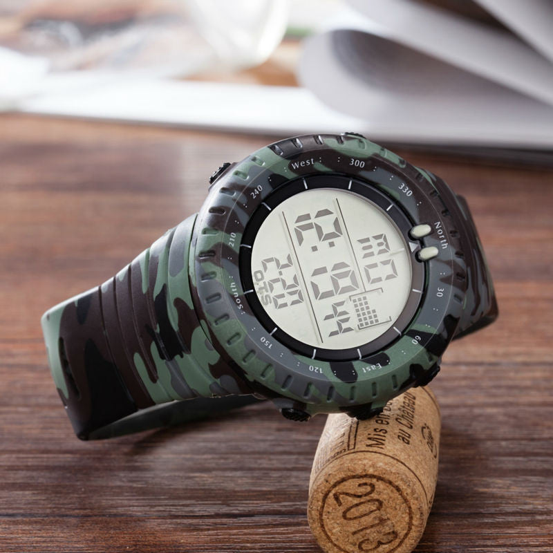 33395e7d75b ... O.T.S Men s Swimming Waterproof Army Camouflage Military Watch LED  Digital Men Sports Watches Relogio masculino Esportivo ...