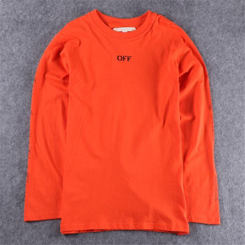 91dc8f26f1f5 ... OFF WHITE T shirt Men VLONE T-shirts Harajuku Brand Fashion Long Sleeve  Tee shirt ...