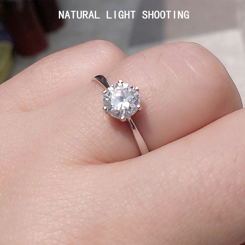REAL PURE SILVER 925 STERLING SILVER SHINE BRIGHT CUBIC ZIRCONIA ...
