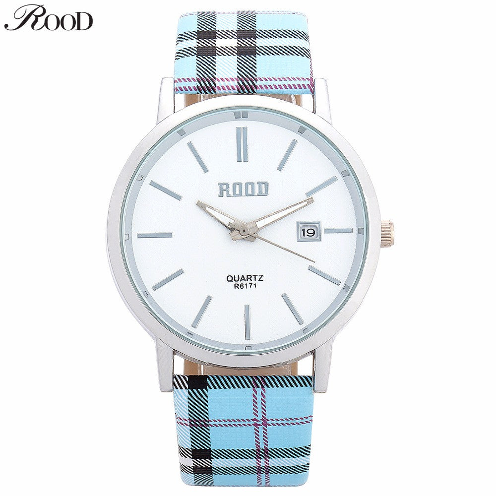 ROOD Silver Women Watches Luxury High Quality Water Resistant Montre Femme Colorful Nylon Strap Dress Woman Wrist Watches R6171
