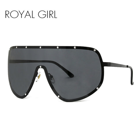 ROYAL GIRL Oversized Men Polarized Face Sunglasses women sun shades big glasses Statement Glasses ss061