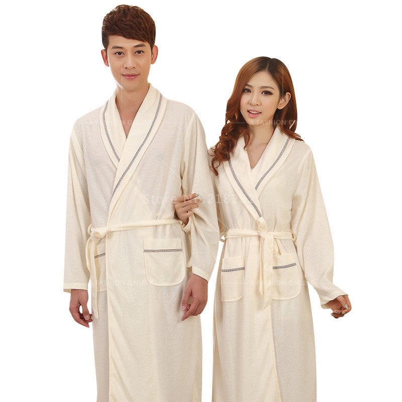 5c1277e1d6d Spring Autumn Sexy Women s Sleep   Lounge Female Robes Plus Size Sleep Tops  Robes for Men ...