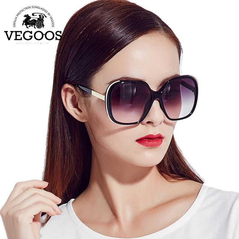 c7cba45de ... VEGOOS New Fashion Polarized Women Sunglasses Female Large Round Frame  Brand Designer Retro Sun Glasses Woman ...