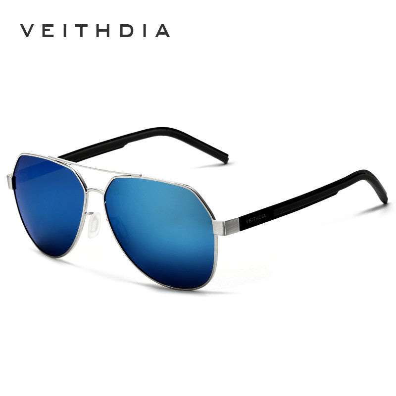 3962c7562d VEITHDIA Aluminum Magnesium Men s Sunglasses Polarized Blue Coating Mirror  Driving Sun Glasses Accessories For Men shades ...