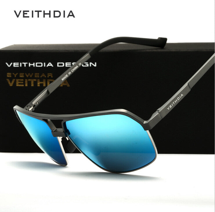 32e3ea1b03 ... VEITHDIA Men s Aluminum Magnesium Alloy Polarized Sunglasses Men Square  Vintage Eyewear Accessories For Men ...