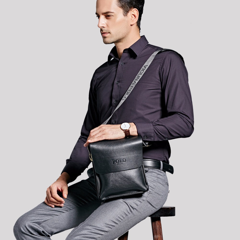 fa389989c0 ... VICUNA POLO Famous Brand Leather Men Bag Casual Business Leather Mens  Messenger Bag Vintage Men s Crossbody ...