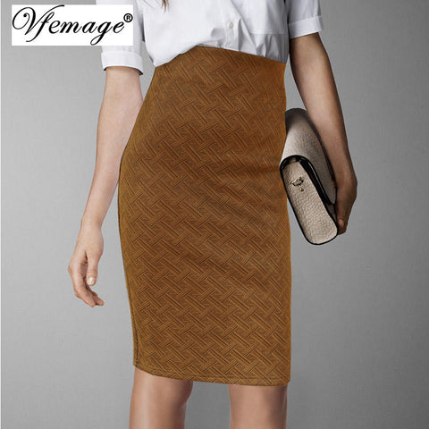 d2bd022a2db Vfemage Womens Elegant Vintage Fashion Weave Pattern Wear To Work Business  Casual Office Party Pencil Sheath
