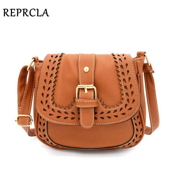 a7c0c0bf4926 Vintage Hollow Out Shoulder Bag PU Leather Women Messenger Bags ...