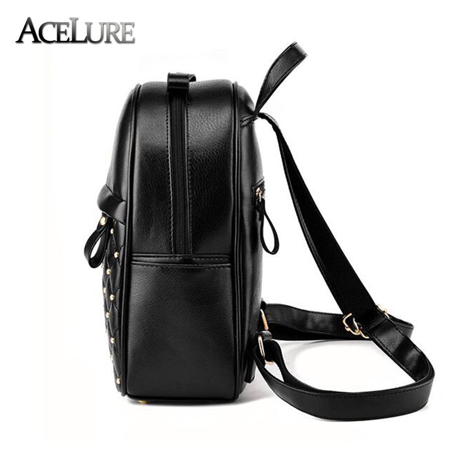 9657cd89c6 ... Women Backpacks 2017 Hot Sale Fashion Causal bags High Quality bead  female shoulder bag PU Leather ...