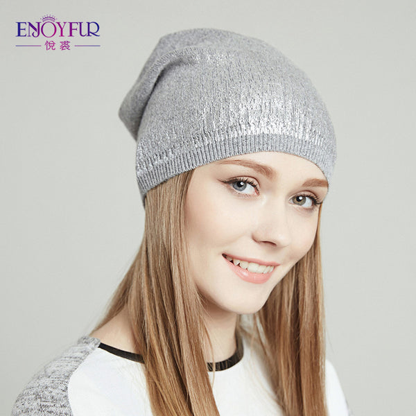 5de0b8289b340e ... Women's beanies hats for Spring and Autumn knitted with wool Europe and America  fashional caps 2017 ...