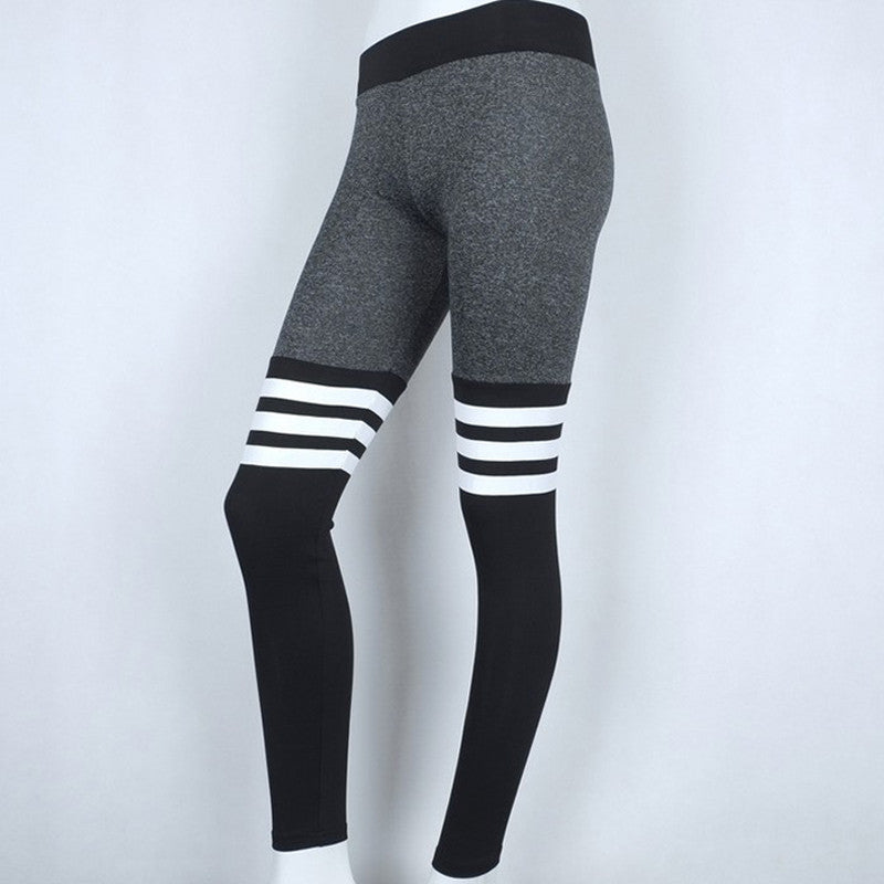 f3dd911090 ... Womens Compression Tights Pants 2017 Brand Fitness Pant Cotton Striped  Elastic Dance Pants Tights Sweatpants For ...
