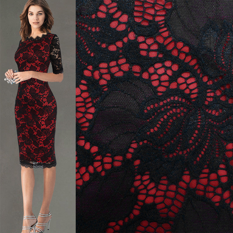 5411b6a9e9d21 Womens Elegant Delicate Floral Lace Casual Party Evening Bodycon ...
