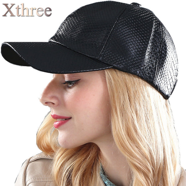 8d21dcdcc48fe  Xthree  fashion Baseball Cap women fall faux Leather cap hip hop snapback  Hats For ...