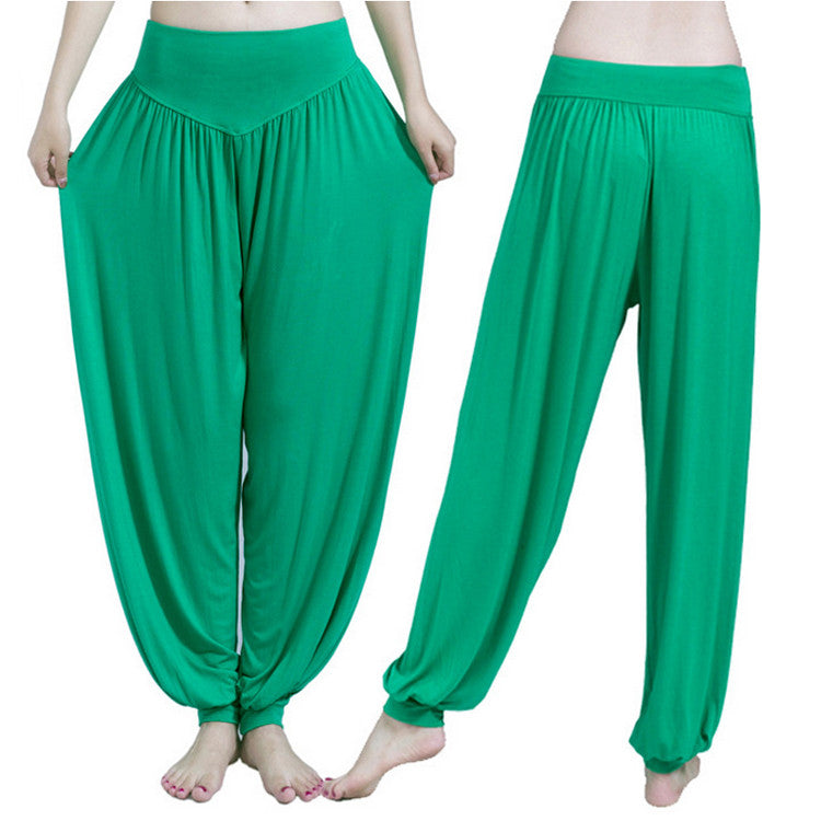 612d282137 ... Yoga Pants Women Plus Size Colorful Bloomers Dance Yoga TaiChi Full  Length Pants Smooth No Shrink ...