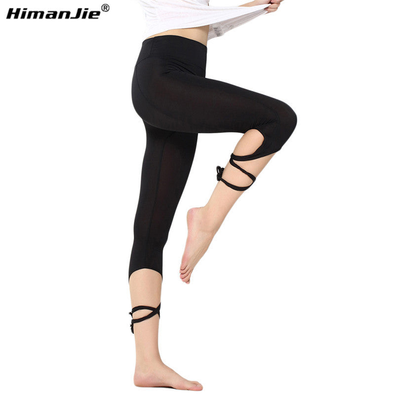 Yoga Tights Leggings Pants Ballet Spirit Bandage Cross