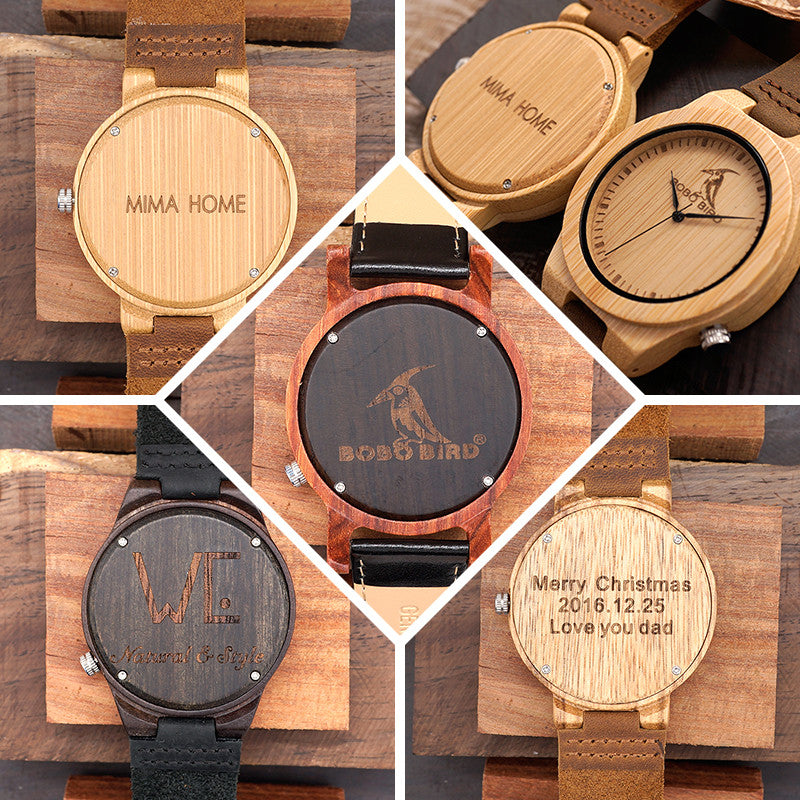 engraving wood by axmen with mens dark engraved custom watch wooden free pin ebony watches