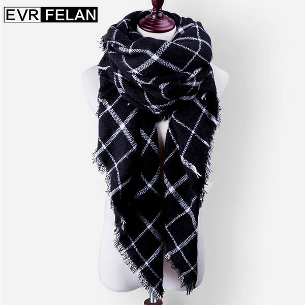 36ac4050f3bc1 Za Cashmere Winter Scarf For Women Scarf Female Scarves Brand Shawl Warm  140cm*140cm* ...
