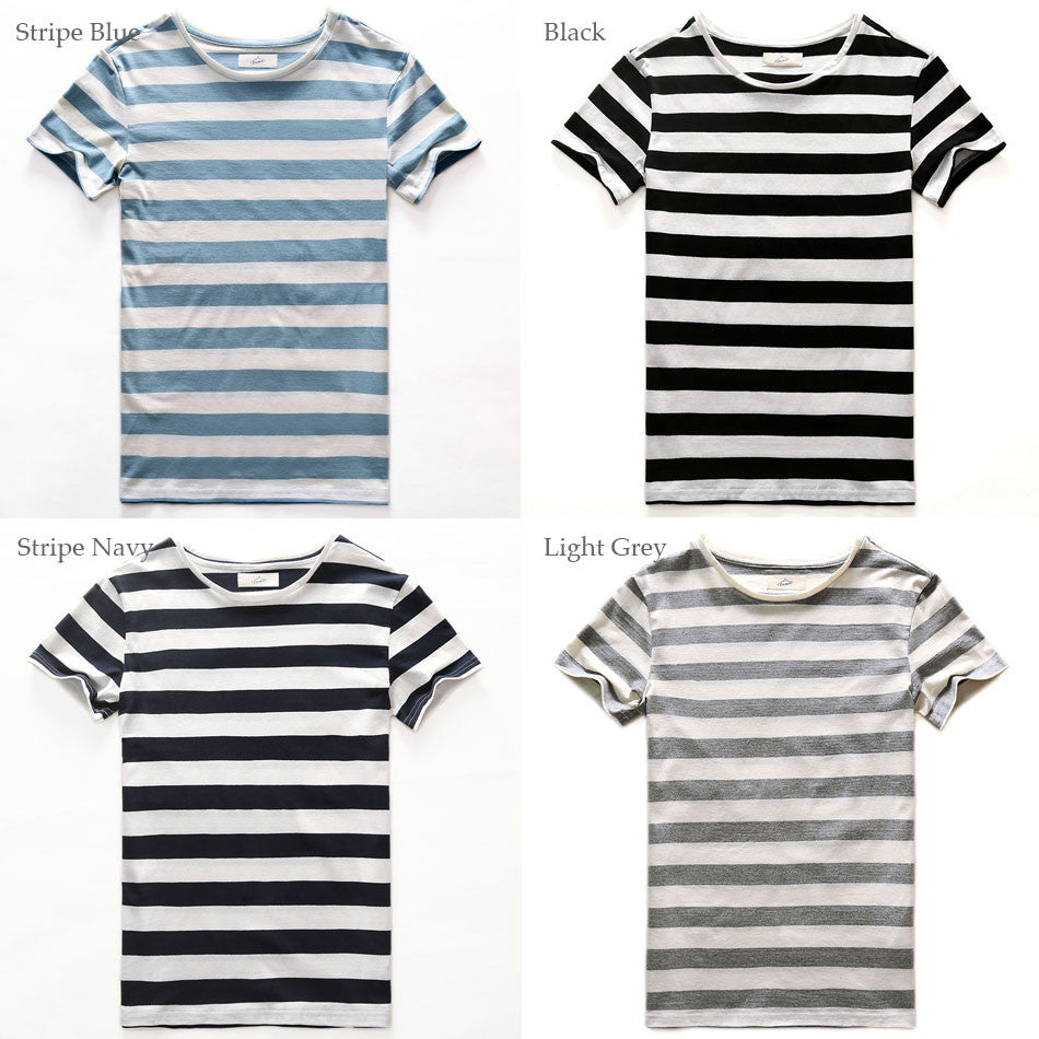 19144e73cd ... Zecmos New Stripe T-Shirt Men Slim Fit Navy Blue Stripe T Shirt Man  Short ...