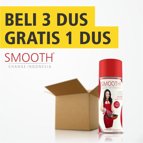 Business - SMOOTH Cooking Spray 3 DUS Gratis 1 DUS - Raja Indonesia