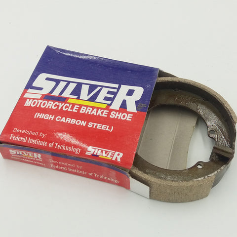 Silver Motorcylce Brake Shoe, High Carbon Steel.