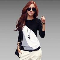 2016 Brand Autumn Fashion Cotton Blouse Women Shirts Blouses Casual O Neck Long Sleeve Cotton Tops 2 Styles - Raja Indonesia