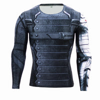 2015 New Fitness Compression Shirt Men Superman Bodybuilding Long Sleeve 3D T Shirt Crossfit Tops Shirts - Raja Indonesia