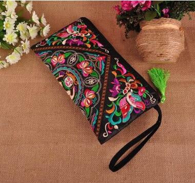 2016 Hot Women's embroidery Handbags!National trend handmade Floral embroidered messenger bag double-faced embroidery tassel bag - Raja Indonesia