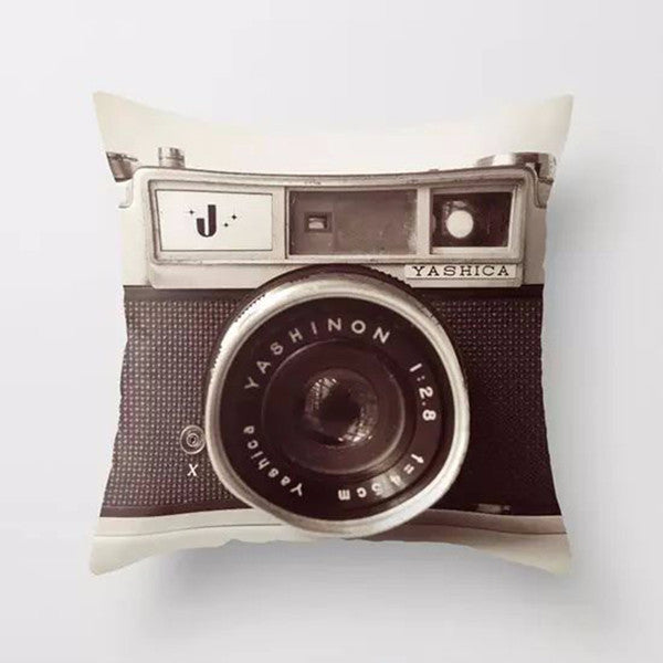 2016 Hot Sales 3D Digital Camera Printed Pillowcase Art Bedroom A Living Room Cushion Home Decor Car Sofa Decorative Cushion - Raja Indonesia