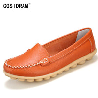 2016 New Casual Loafers Women Genuine Leather Mother Shoes Moccasins Soft Leisure Flats Female Driving Ladies Footwear BSN-601 - Raja Indonesia
