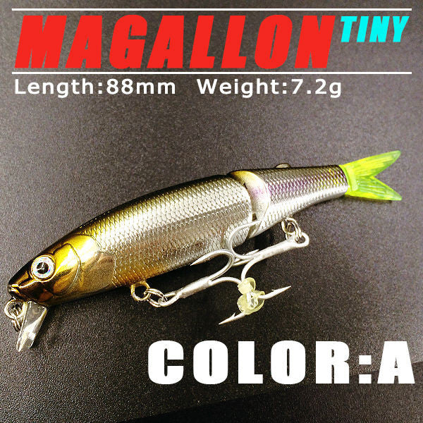 5pcs/lot 2015 good fishing lures minnow,quality professional baits 8.8cm/7.2g,swimbait jointed bait bearking - Raja Indonesia
